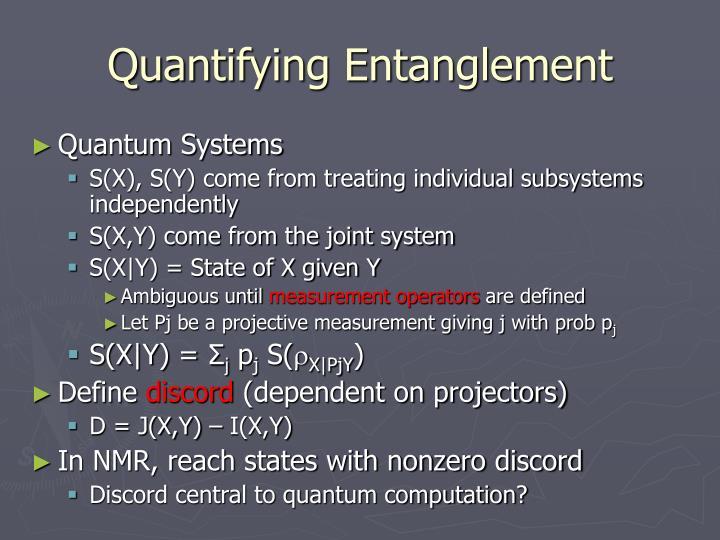 Quantifying Entanglement