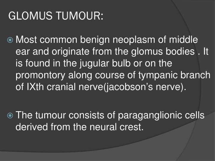 GLOMUS TUMOUR: