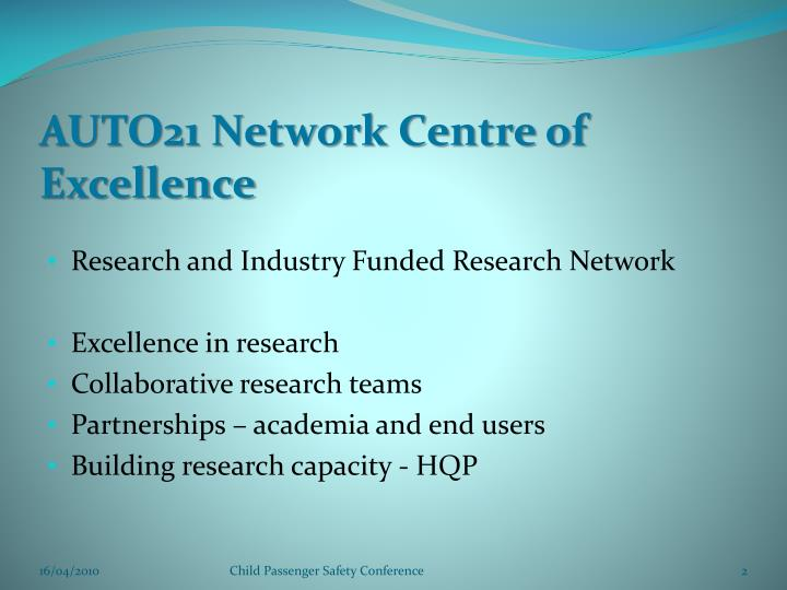 AUTO21 Network Centre of Excellence