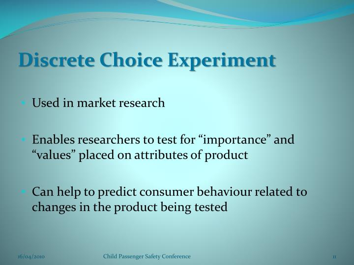 Discrete Choice Experiment