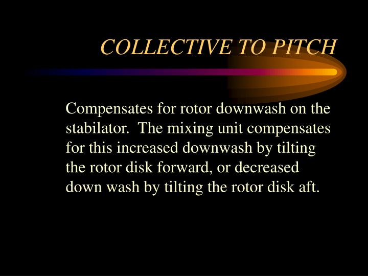 COLLECTIVE TO PITCH
