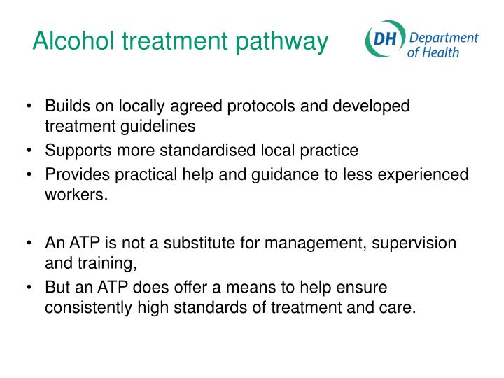 Alcohol treatment pathway