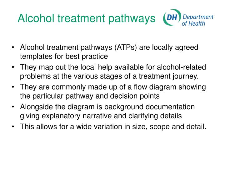 Alcohol treatment pathways1