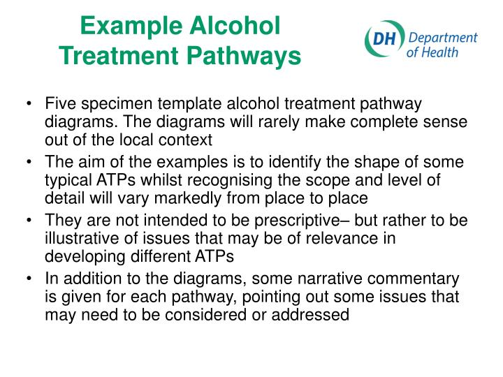 Example Alcohol Treatment Pathways