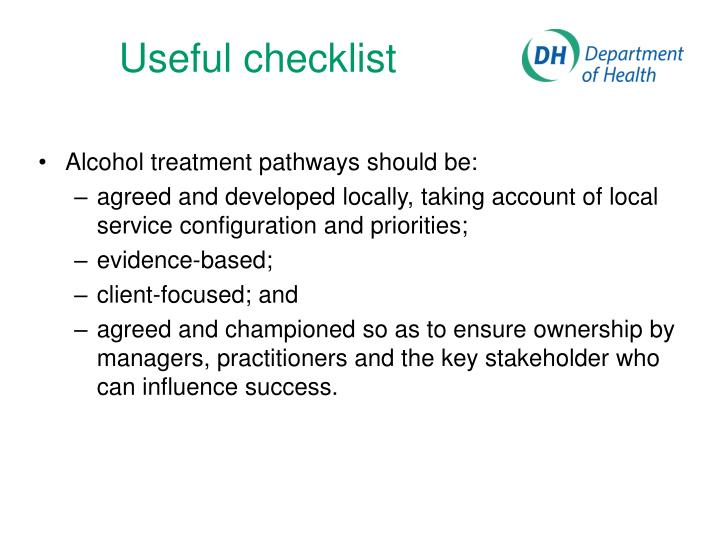 Useful checklist