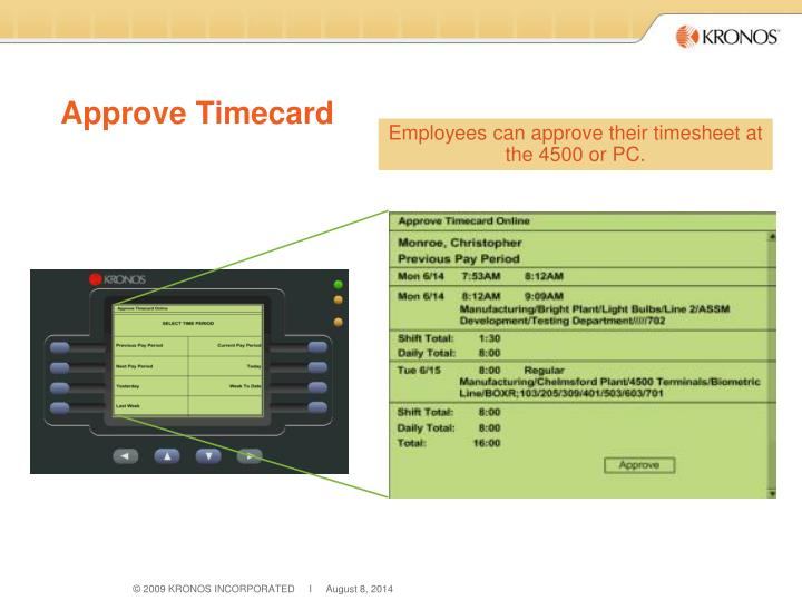 Approve Timecard
