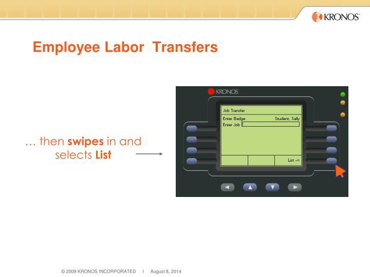 Employee Labor  Transfers