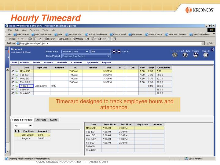 Hourly Timecard