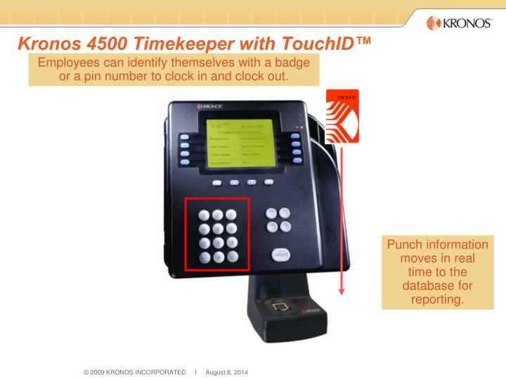 Kronos 4500 Timekeeper with TouchID™