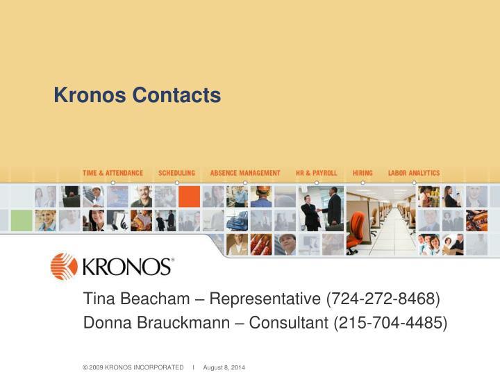 Kronos Contacts