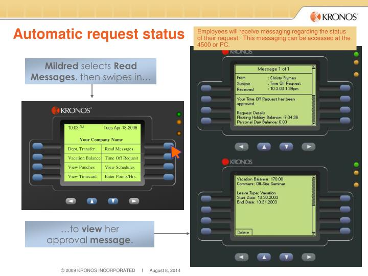 Automatic request status