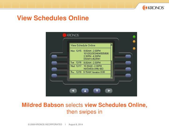 View Schedules Online