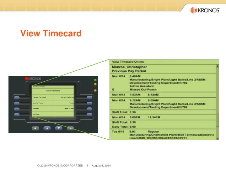 View Timecard