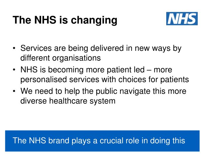 The NHS is changing