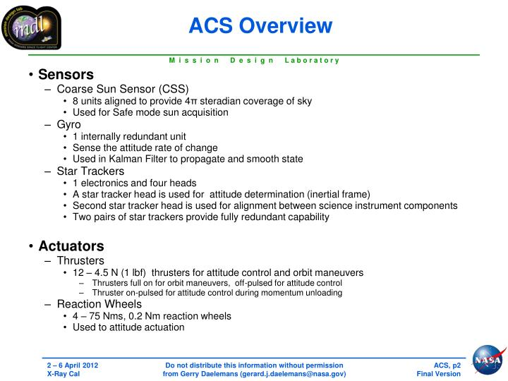 ACS Overview