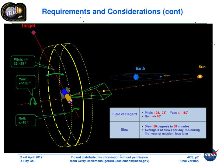 Requirements and Considerations (