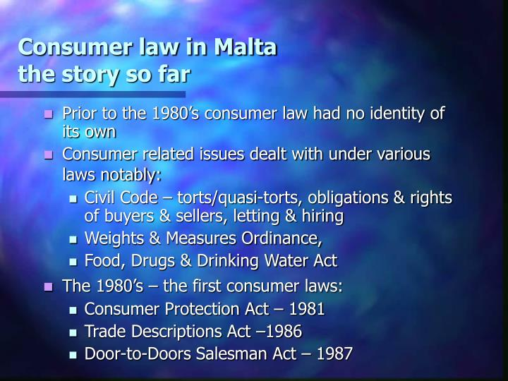 Consumer law in Malta