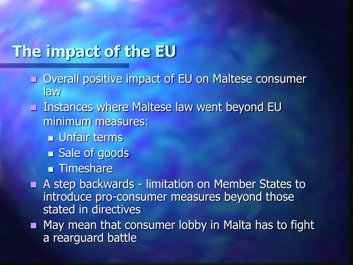 The impact of the EU