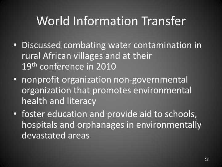 World Information Transfer
