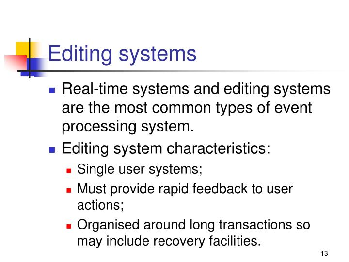 Editing systems