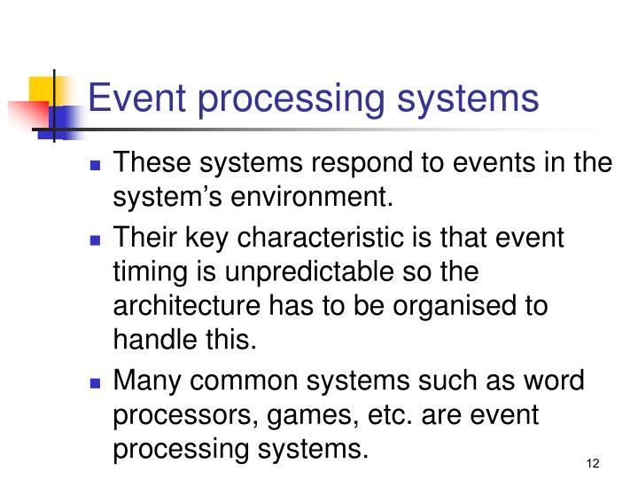 Event processing systems