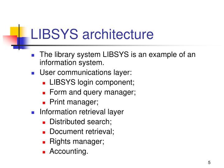 LIBSYS architecture