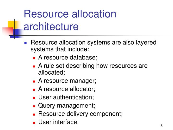 Resource allocation architecture