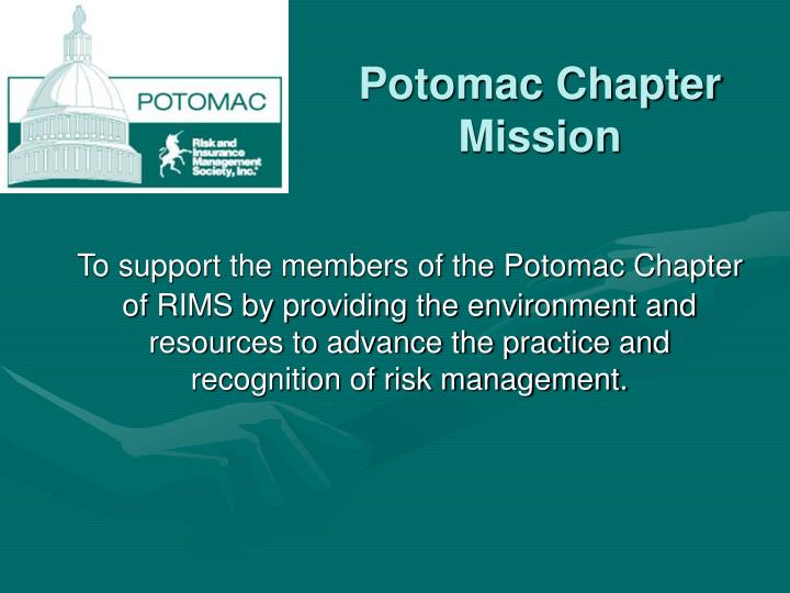 Potomac chapter mission