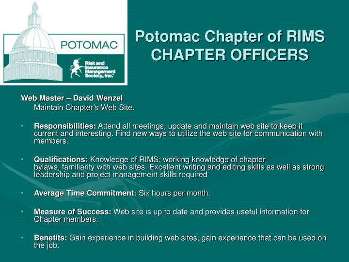 Potomac Chapter of RIMS