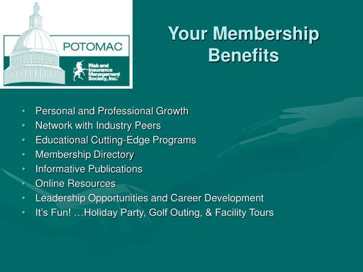 Your Membership Benefits