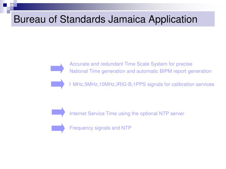 Bureau of Standards Jamaica Application