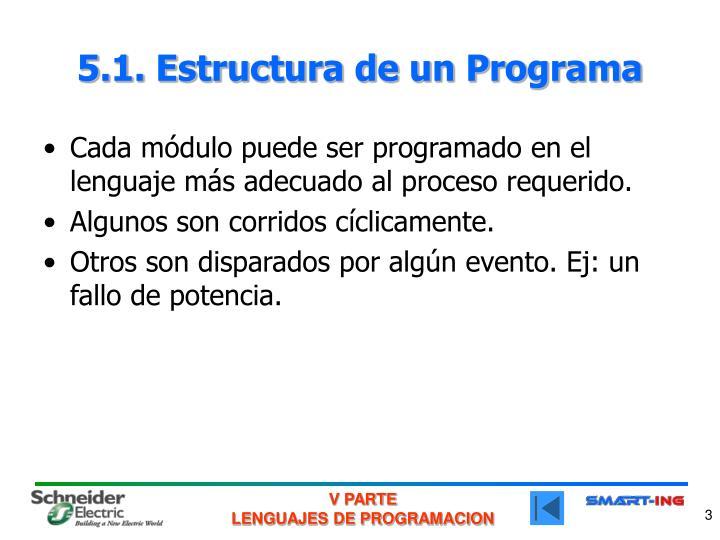 5.1. Estructura de un Programa