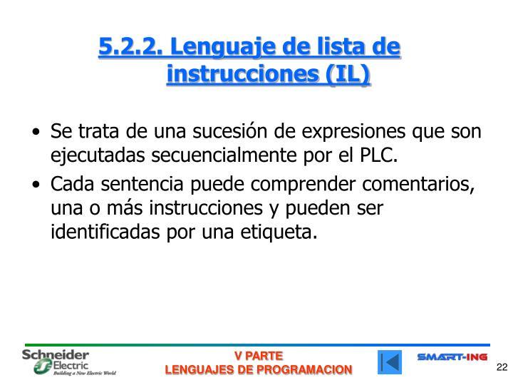5.2.2. Lenguaje de lista de instrucciones (IL)