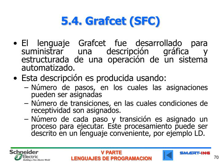 5.4. Grafcet (SFC)