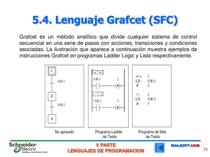 5.4. Lenguaje Grafcet (SFC)
