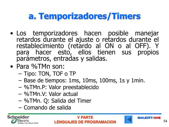 a. Temporizadores/Timers