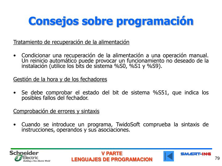 Consejos sobre programación