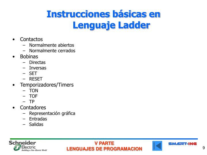Instrucciones básicas en
