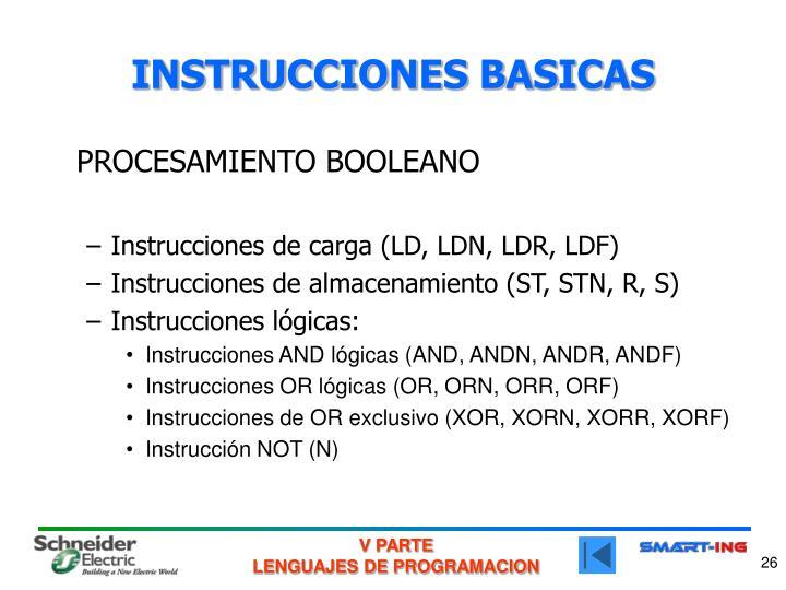 INSTRUCCIONES BASICAS