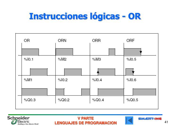 Instrucciones lógicas - OR