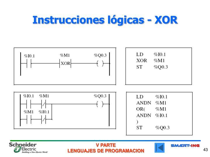 Instrucciones lógicas - XOR