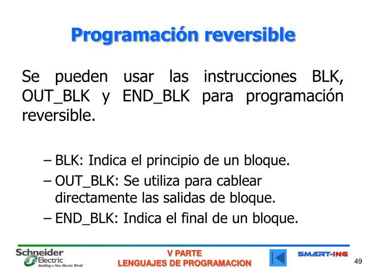 Programación reversible