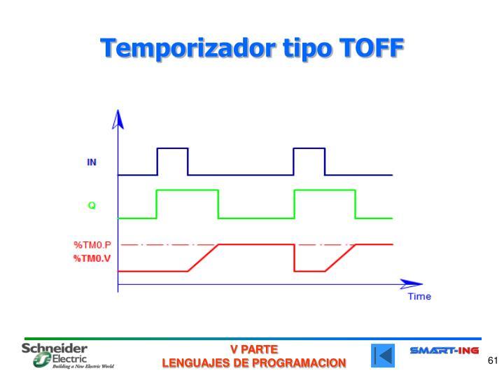 Temporizador tipo TOFF