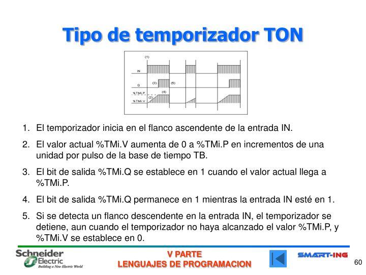Tipo de temporizador TON