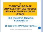ibc industrie b timent commerce et 3s secteur sanitaire et social