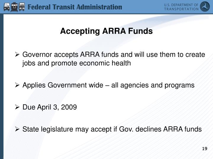 Accepting ARRA Funds