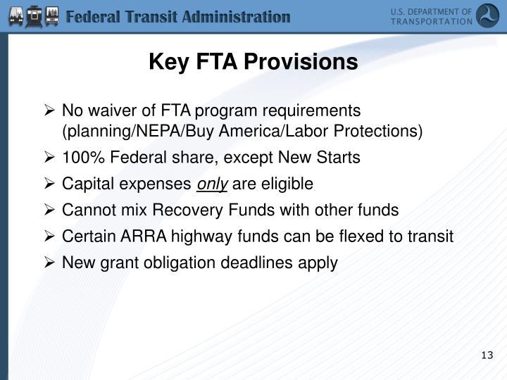 Key FTA Provisions