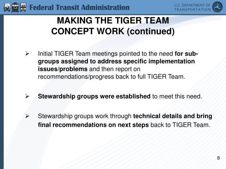 MAKING THE TIGER TEAM