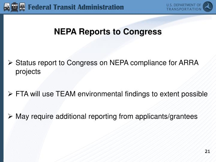 NEPA Reports to Congress