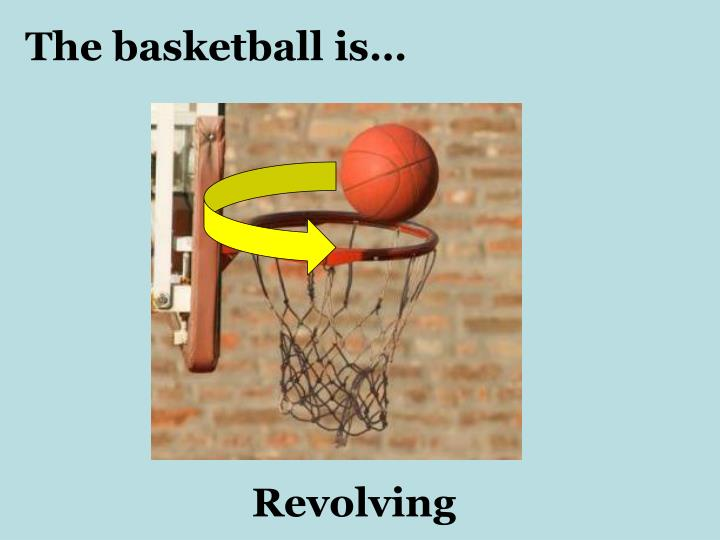 The basketball is…